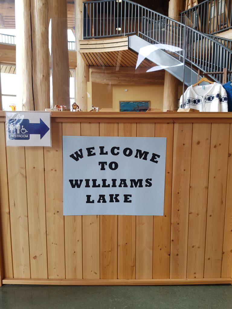Entrata nell'ufficio del turismo a Williams Lake